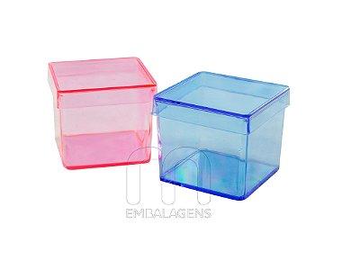 Caixinha de acrilico 4x4 colorida (10 unid.)