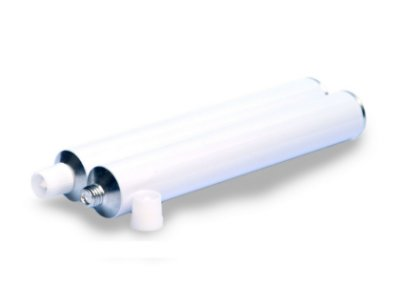 bisnaga de aluminio 28 mm cartucho injecao (10 unid.)