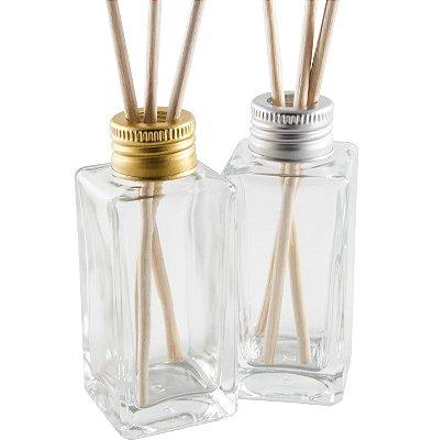 Vidro para Aromatizador Difusor 60 ml Quadrado (10 unid.)