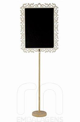Mini Lousa Quadro Negro de Madeira Banner (1 unid.)