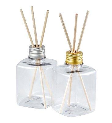Frasco para Aromatizador Plástico Quadrado 250 ml fino (10 unid)