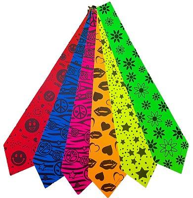 Gravata para Festa Coloridas Cores Neon (8 unid)