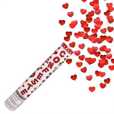 Lança Confete Coração Metalizado 30 cm (1 unid.)
