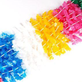 Colar Havaiano para Festas Plástico Atacado (48 unid.)