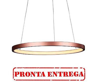 PRONTA ENTREGA / PENDENTE QUALITY NLI QPD1300-PT METAL LED Suspenso Aro Esfera Moderno 20W 3000K 40X2CM Cobre