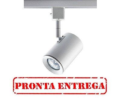 PRONTA ENTREGA / Spot Beam Trilho Direcionável Metal Branco 11x5,5cm Bella Iluminação 1 GU10 Dicróica DL044B Salas e Escritórios