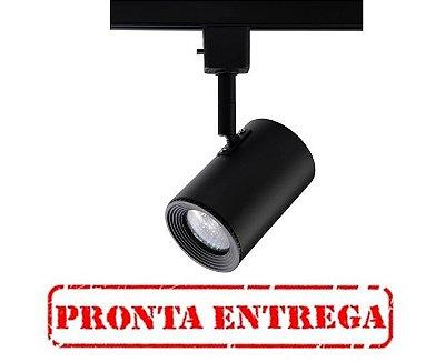 PRONTA ENTREGA / Spot Beam Trilho Direcionável Metal Preto 11x5,5cm Bella Iluminação 1 GU10 Dicróica DL044P Escritórios e Salas