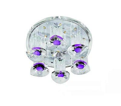 Cristal Plafon Embutido 10x5 Spot Luminária Led Teto Sala Quarto Corredor Escada ZG217 Luciin.