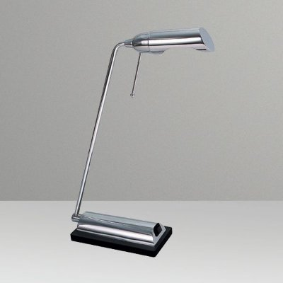 Abajur Luminária de Mesa Inclinada Calha Alumínio Bivolt Leitura 35cm de Altura Milla Golden Art G9 M690 Mesas e Quartos