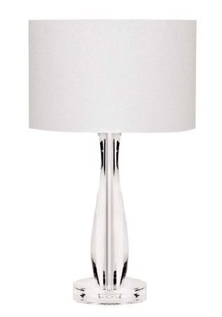 Abajur Decorativo Acrílico Transparente Cúpula Tecido Bivolt 47cm de Altura InGatto Luciin E-27 Cf145/2 Mesas e Salas