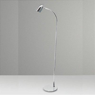 Coluna Luminária de Chão Flexível Alumínio Calha Cone Bivolt 1,30m de Altura Foco Golden Art G4 C651 Salas e Hall
