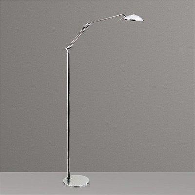Coluna Luminária de Chão Articulada Alumínio Calha Pixar Bivolt 1,30m de Altura Juliy Golden Art G9 C680 Salas e Hall