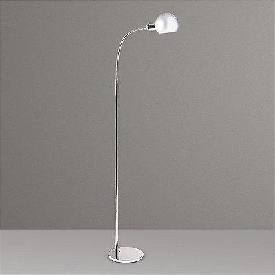 Coluna Luminária de Chão Alumínio Cromada Haste Flexível Bivolt 1,35m de Altura Zara Golden Art E-27 C667 Salas e Hall
