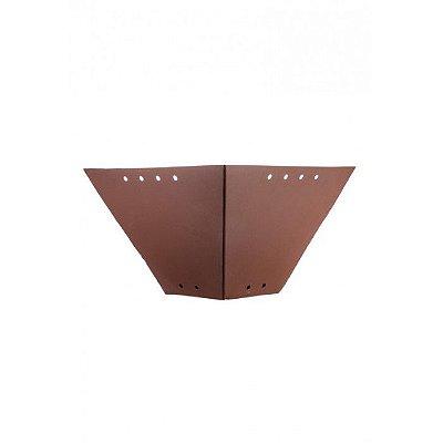 Arandela Interna Rústica Metal Envelhecido Oxidado 36x18 Napoli Madelustre E-27 2564 Corredores e Salas