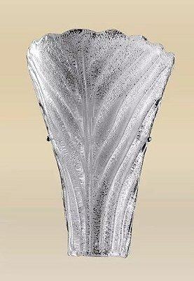 Arandela Interna Texturizada Vidro Cristal Fosco Soprado 38x27 Riga Madelustre E-27 2250 Corredores e Quartos