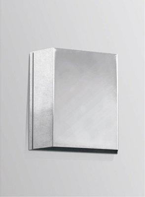 Arandela Interna Alumínio Cromado Balizador Luz Indireta 12x12 Golden Art G9 P310 Corredores e Salas