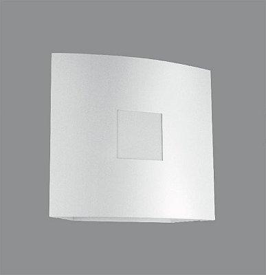 Arandela Interna Quadrada Curva Alumínio Branca 12x12 Golden Art G9 P382 Quartos e Salas