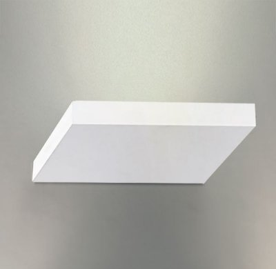 Arandela Interna Aço Inox Quadrada Slim Branca 20x20 Golden Art Halógena P743 Corredores e Salas