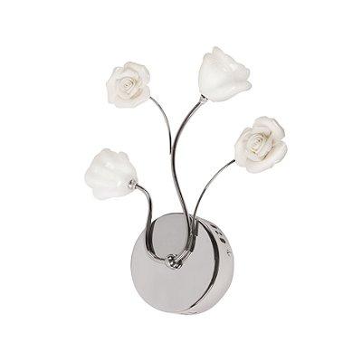 Arandela Interna Metal Cromado Floral Vidro 10x30 Maestro InAffetto Luciin G4 Ts008-2 Quartos e Salas