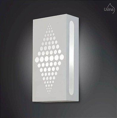 Arandela Externa Retangular Decorativa Luz Frontal Alumínio 30x10 2012 Usina Design E-27 5190/30 Garagens e Jardins