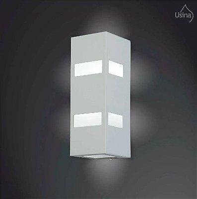Arandela Externa Luminária Retangular Fosca 18x10 2012 Usina Design E-27 5175/20 Muros e Jardins