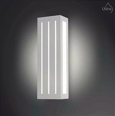 Arandela Externa Alumínio Listrada Luz Frontal 25x12 Orquidea Usina Design E-27 5022/1 Md Garagens e Jardins