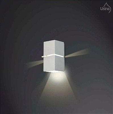 Arandela Externa Luminária Fechada Alumínio Fosco 10x18 Kiara Usina Design G9 5226/18 Garagens e Jardins