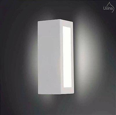 Arandela Externa Alumínio Fosco Luz Frontal 28x10 Jasmim Usina Design E-27 5061/1 Md Muros e Garagens