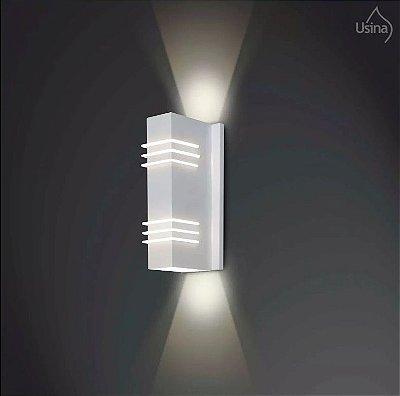 Arandela Interna Alumínio Tubo Retangular Decorativa 8x37 Cleo Usina Design G9 5230/37 Banheiros e Corredores