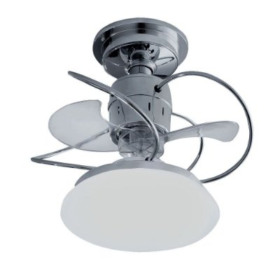 Ventilador Teto Lustre Atenas Cromado Luminaria Led 18w Quarto Sala Cozinha Loja Treviso TRV22