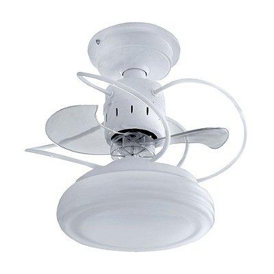 Ventilador Teto Lustre Bali Branco Luminaria Led Quarto Sala Cozinha Comercial 18w Treviso TRV32