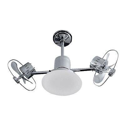 Ventilador Teto Lustre Infinit Plus Cromado Luminaria Quarto Infantil Sala Cozinha Treviso TRV49