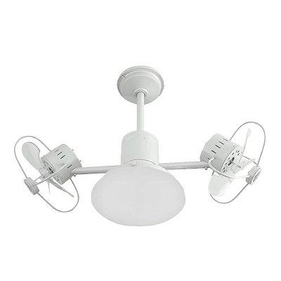 Ventilador Teto Lustre Infinit Plus Branco Luminaria Led Sala Quarto Cozinha 18w Treviso TRV51