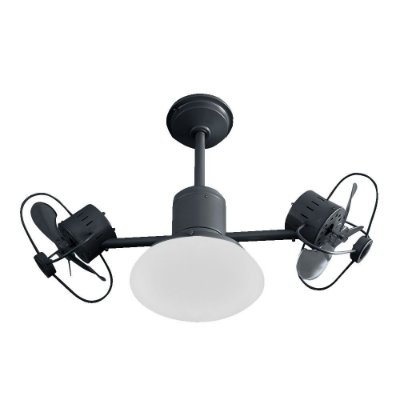 Ventilador Teto Lustre Infinit Plus Preto Luminaria Led Sala Quarto Cozinha 18w Treviso TRV52