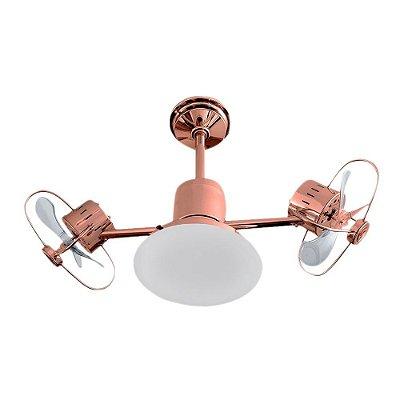 Ventilador Teto Lustre Infinit Plus Bronze Luminaria Led Sala Quarto Cozinha Loja 18w Treviso TRV54