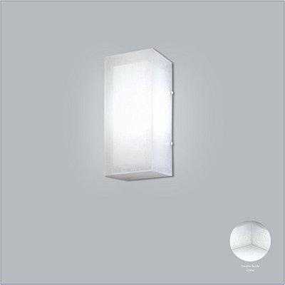 Arandela Interna Retangular Luz Frontal Tecido Cotton 13x48 Cotton Usina Design E-27 10713/48 Quartos e Salas