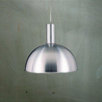 Pendente 1/2 Esfera Alumínio Cromado Bilhar Cabo PP 29x1,3m Golden Art E-27 T143-1 Cozinhas e Salas
