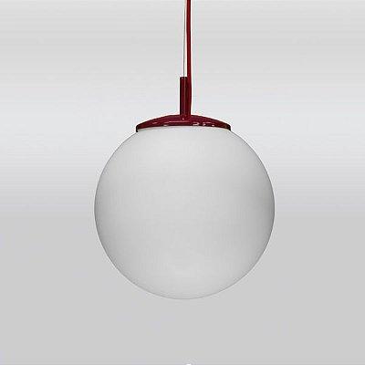 Pendente Vertical Bola Opalina Vidro Leitoso Cabo Regulável Ø30cm Golden Art E-27 T755-30 Entradas e Salas