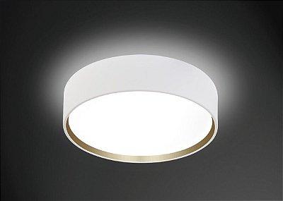Plafon Sobrepor Acrílico Leitoso Redondo Ø55 Usina Design Onix E-27 4100/55 Quartos e Cozinhas