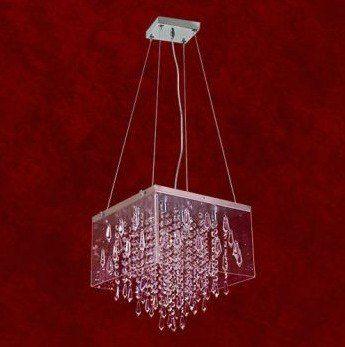 Lustre Quadrado Box Acrílico Cristal Transparente 6 Lâmpadas 30x20 Veneza Mr Iluminação G9 2255-p-pd Salas e Hall