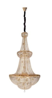 Lustre Imperial Vintage Metal Dourado Cristal 35 Lâmpadas 85x2,85 InCastellar Luciin E-14 LX043/13 Salas e Hall