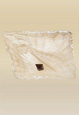 Plafon Sobrepor Vidro Alabastro Âmbar Metal Ouro 38x38 Quadrato Madelustre 2116 Quartos e Corredores