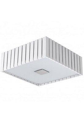 Plafon Quadrado Branco Rústico Madeira Maciça Sobrepor 32x32cm Castor Madelustre 2560-BR Quartos e Salas