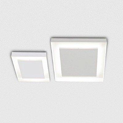 Plafon Quadrado Alumínio Fosco Branco 30x30cm Sanca Golden Art G9 Halopin T117-30 Corredores e Varandas
