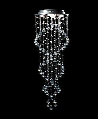 Plafon Redondo Inox Fosco Cristal Asfour Transparente DNA Ø40 DNA GU10 Rd-005-dna-p Hall e Salas
