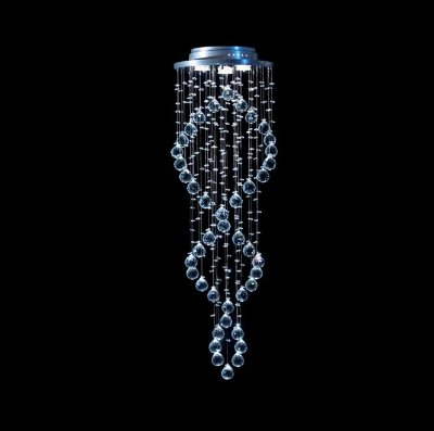 Plafon Cristal Legítimo Ø32 Luminária Sala Salão Estar Comercial Quarto Rd-003-dna DNA