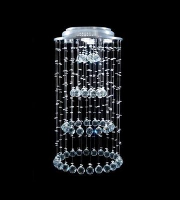 Plafon Redondo Inox Cromado Cristal Asfour Transparente Funil Ø40 DNA Halopin Rd-005-f Salas e Escritórios