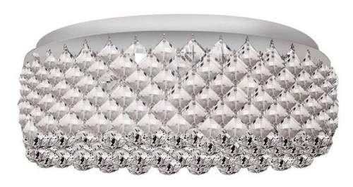 Plafon Sobrepor Redondo Arco Inox Cristal Ø30 InStati Luciin G9 Lx065 Quartos e Salas