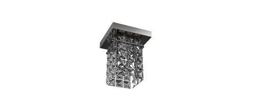 Spot Inox Cristal Legítimo 12x12 Luminária Sala Salão Estar Comercial Quarto Pf814/1 New