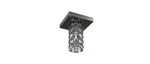 Plafon Sobrepor Quadrado Inox Cristal Espelhado 12x12 New Design G9 Pf815/1 Salas e Escritórios